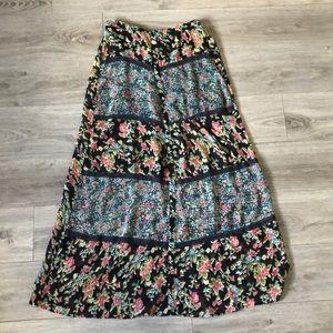 Floor length floral slam I skirt